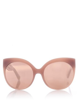 caged sunglasses light pink light pink