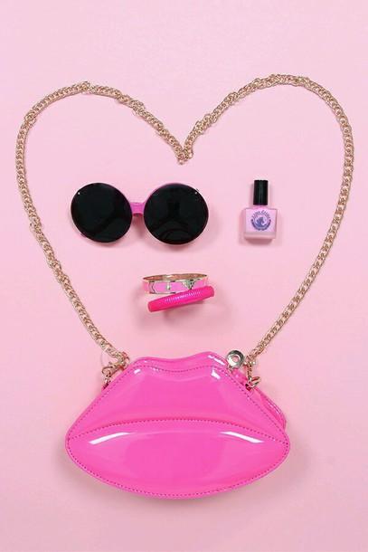 bag purse lip purse