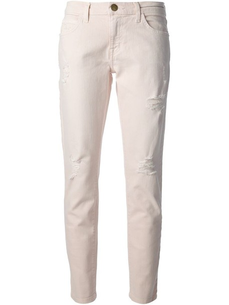 jeans skinny jeans women spandex cotton purple pink