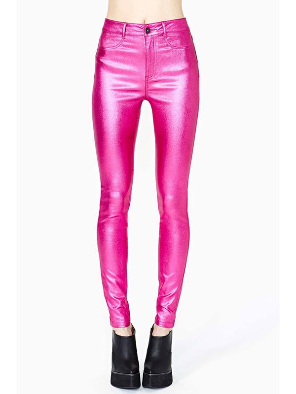 Sexy fuchsia long length skinny pant : kisschic.com