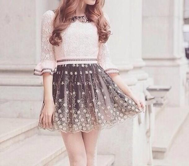 skirt skirt patterned ombre flowers