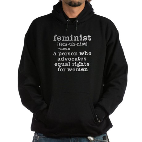 Feminist definition hoodie on cafepress.com