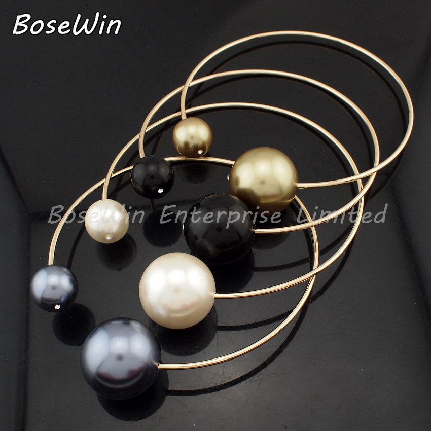 2014 European Show Celebrity Pearl Necklace Fashion Torques All Clothes Match Choker Brand Statement Jewelry CE1822-in Choker Necklaces from Jewelry on Aliexpress.com
