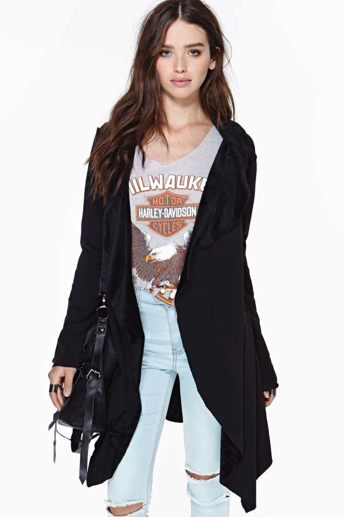 Fallen Dove Cardi - Black in  Clothes Sweaters at Nasty Gal