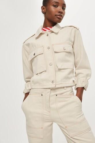 jacket utility jacket cropped