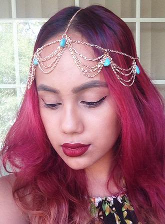 hair accessory head jewels gold head chain gold headpiece
