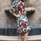 Beautiful rose floral print coat
