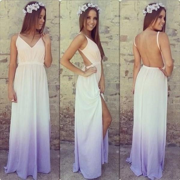 dress dress summer chiffon dress purple