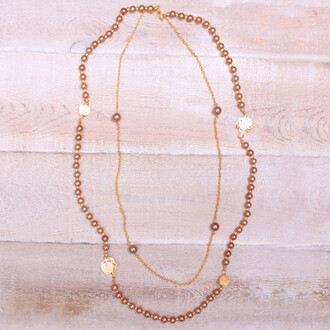 bronzed pearl necklace jewels