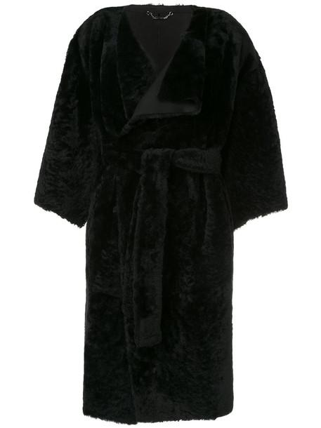 coat oversized women black