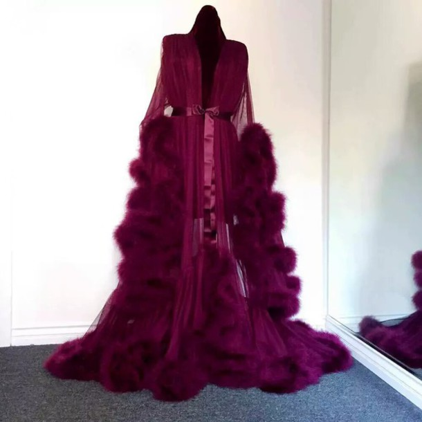 coat, pajamas, robe, glamour, red, red robe, chic, dress, robes ...