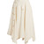 Asymmetric raw-hem linen-blend midi skirt