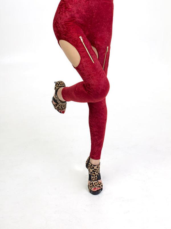 leggings zip garter zipper leggings garter leggings garter garter white velvet velvet leggings zip cut-out jeans oval side detail