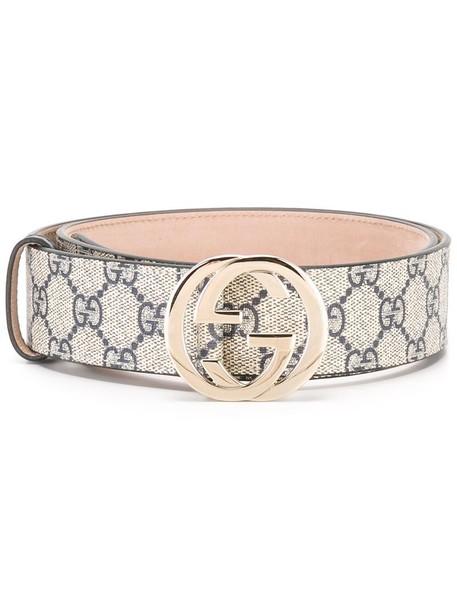 Gucci - GG Supreme belt - women - Leather/Polyurethane - 95, Nude/Neutrals, Leather/Polyurethane