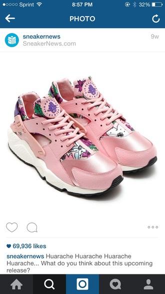 shoes pink pink shoes huarache nike huaraches