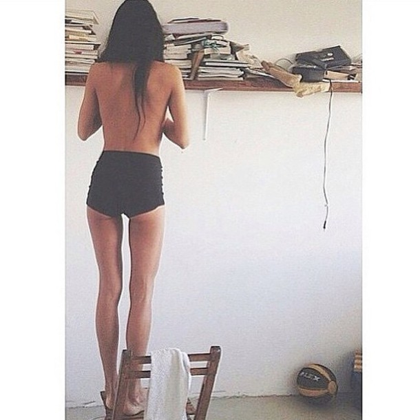shorts high waisted black hipster