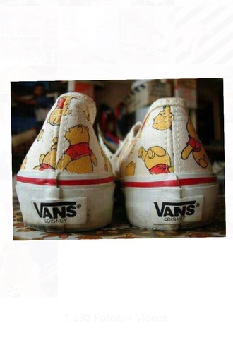 shoes pooh pattern film winnie-the-pooh pattern. tv series vans tennis shoes