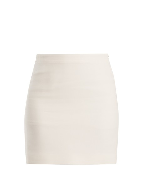 Alessandra Rich skirt mini skirt mini high wool white