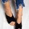 Tory - patent cross strap sandals black - blue vanilla