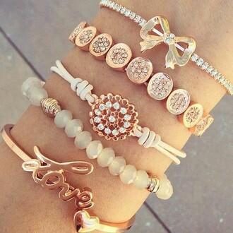 jewels bracelets brecelets golden adorible