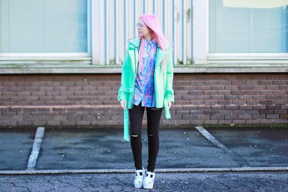 wedges blogger kayla hadlington plastic soft grunge