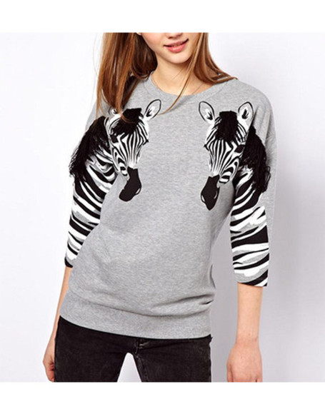 pullover zebra print wow luxury animal