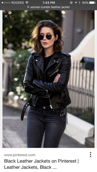 jacket leather jacket black