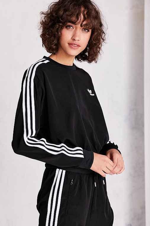 9754ae9c7ce8 adidas Originals 3-Stripe Chiffon Pullover Sweatshirt - Urban Outfitters