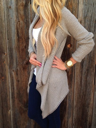 sweater taupe tan warm knitted cardigan