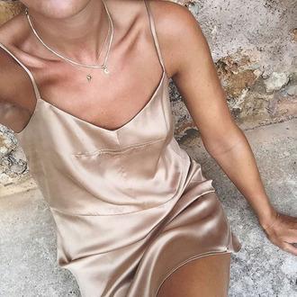dress silk nude nude dress nude silk silk dress satin beige beige dress