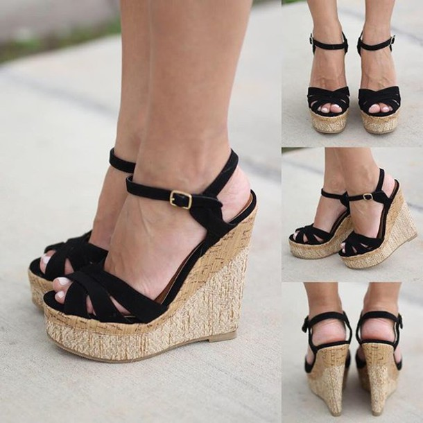 350e7fdd6 shoes wedges black wedges summer wedges cute wedges black shoes  savedbythedress