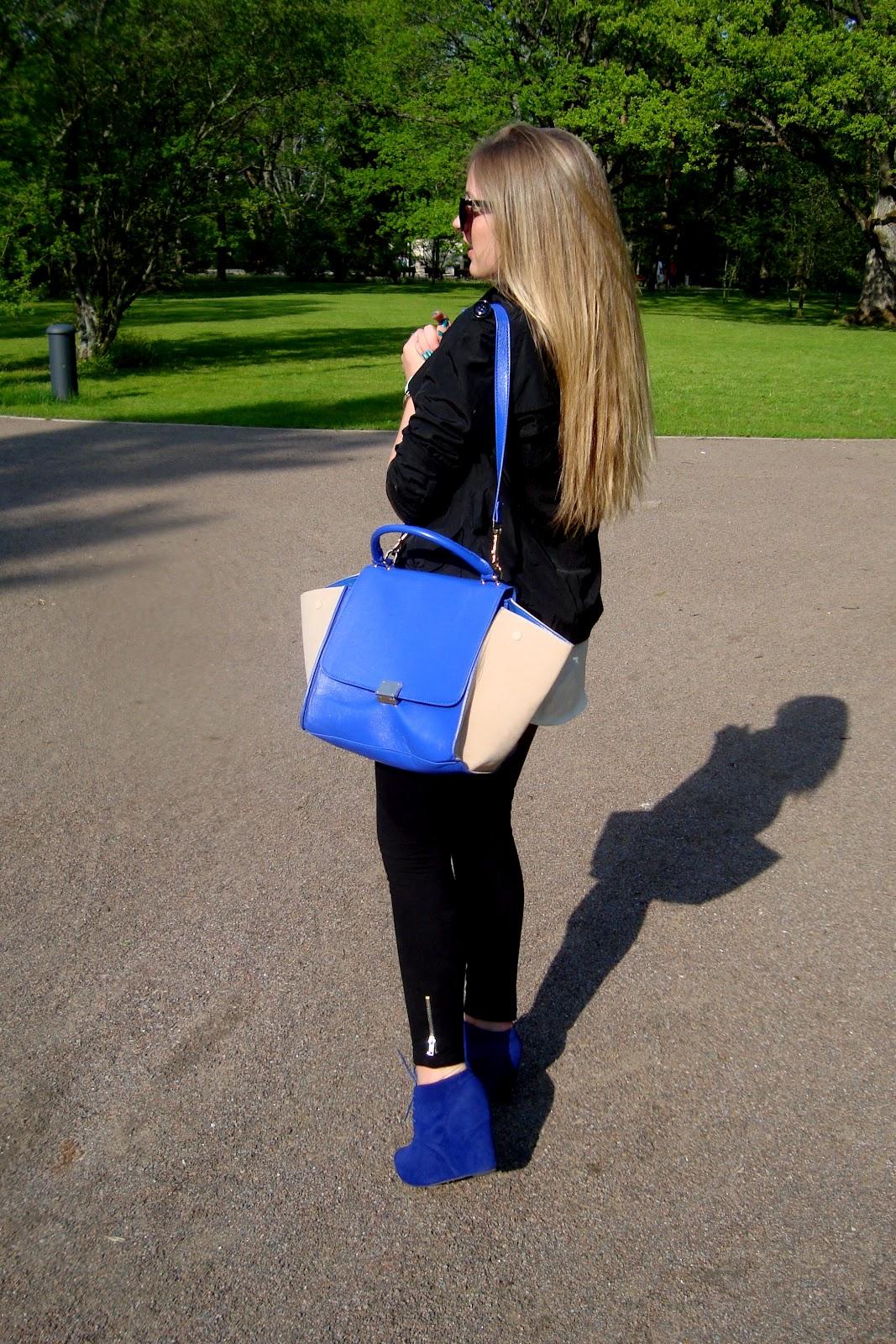 2Way Contrast Color Luggage Tote - OASAP.com