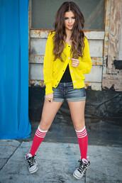 shoes,selena gomez,jacket