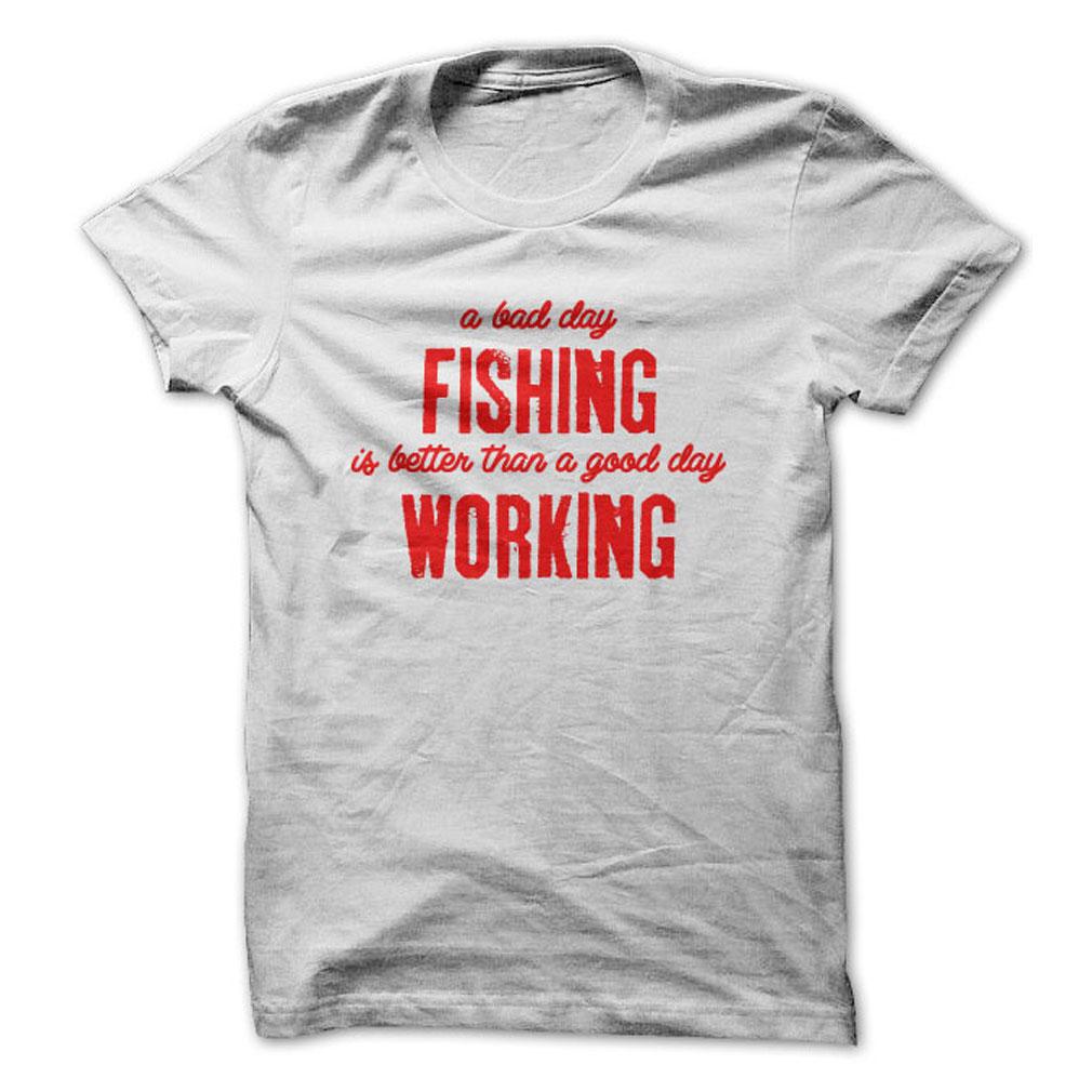 Fishing Vs Work T-Shirt & Hoodie