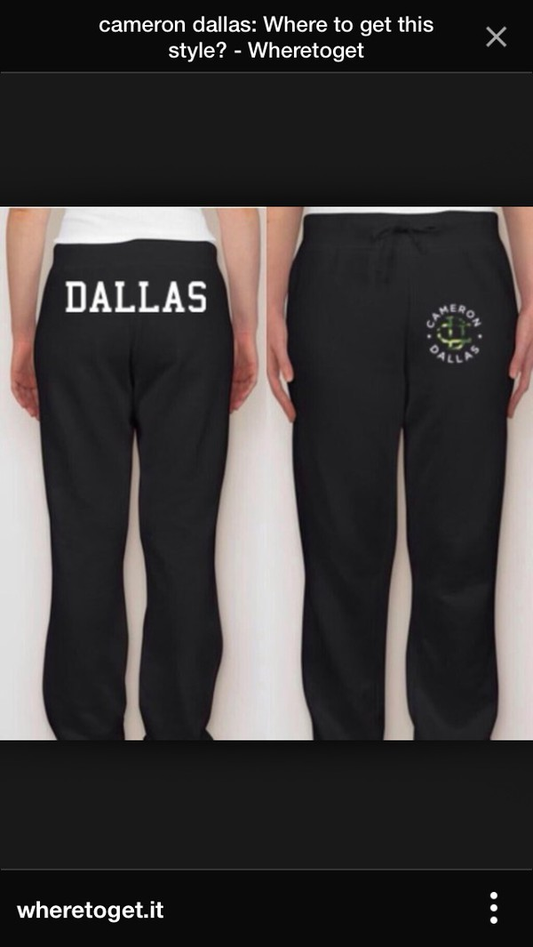 cameron dallas sweatpants pants