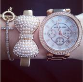 jewels,arm candy,pearl,accessories,arm accessories,pretty,bracelets,gold bracelet,watch