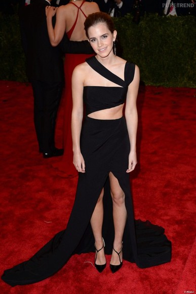 dress emma watson black