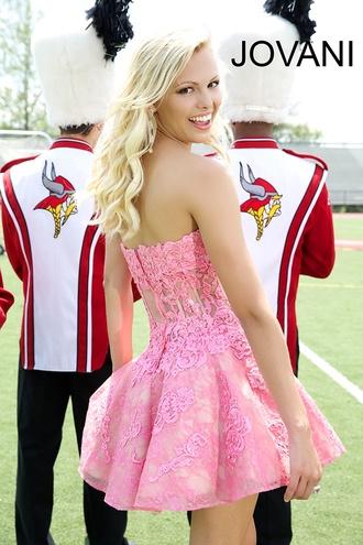 prom dress dress jovani pink dress promdresses short dress floral dress girly
