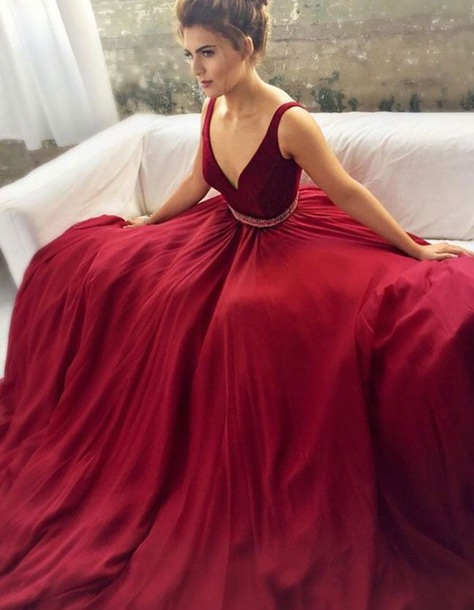 daa800736f4 dress maroon burgundy long dress flowy dress beautiful red dress sexy dress  velvet dress