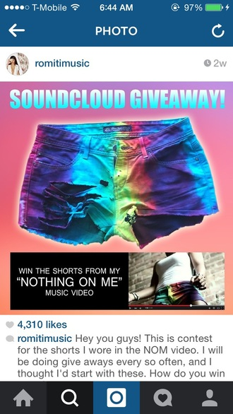 shorts toni romiti denim shorts multicolor rainbow