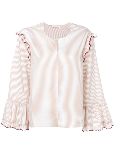 See by Chloe blouse women white cotton top