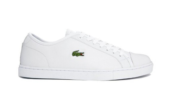 asos lacoste sneakers white shoes