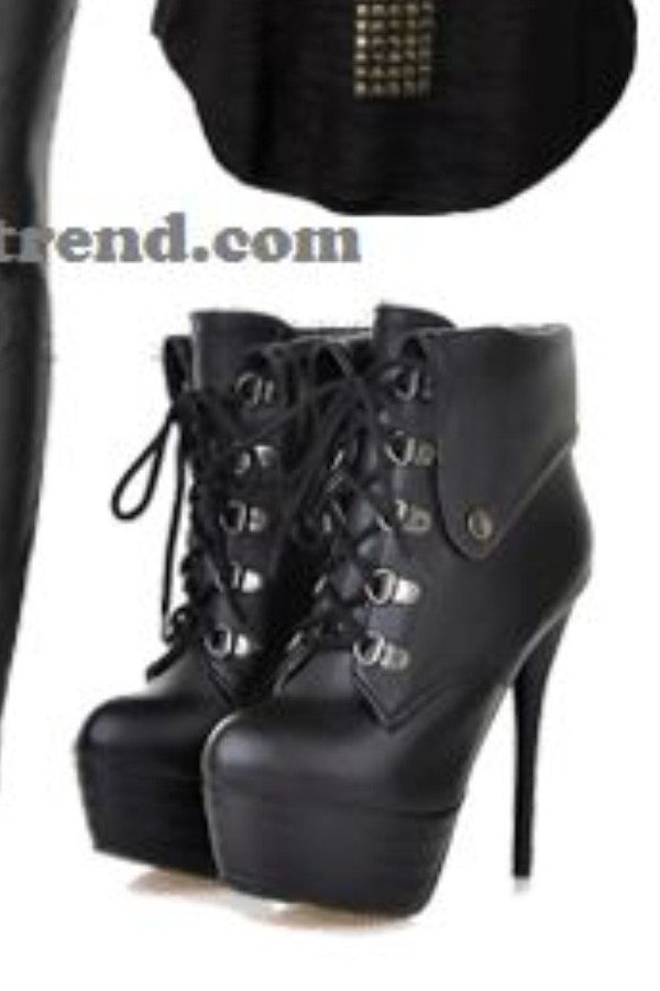 shoes black high heels ankle boots