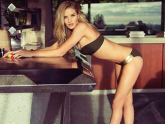 swimwear bikini bikini bottoms bikini top rosie huntington-whiteley