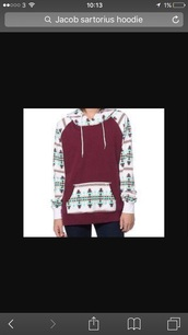 sweater,with hoodie,tribal design,maroon/burgundy,pattern,hoodie