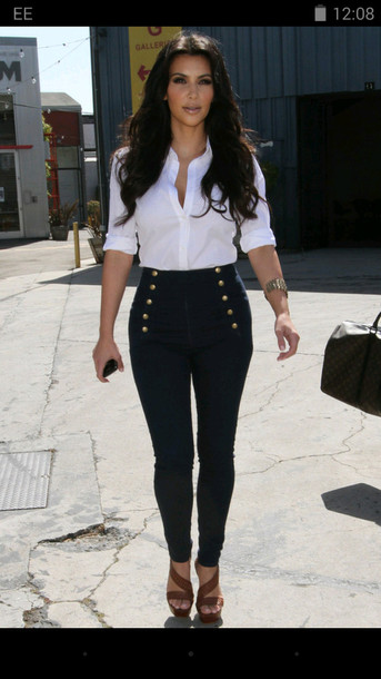White Blouse And Black Pants - Blouse Styles