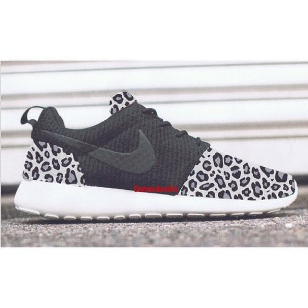 new style 72a52 8ed86 shoes leopard print leopard print gray wolf nike roshe run custom customize  custom nike custom nike