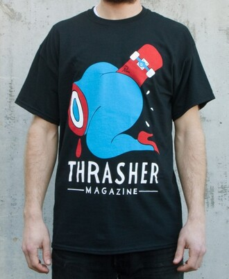 t-shirt thrasher skateboard urban menswear mens t-shirt