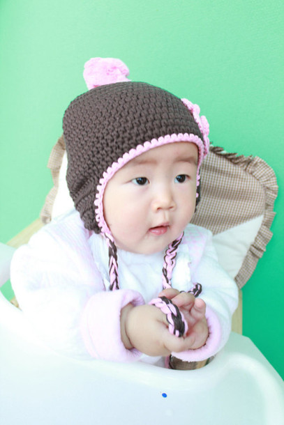 bd3ce6aeb10 kids fashion crochet baby boy girl guys girl children accessories crochet baby  hat ear flap
