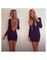 Sexy backless cut out black dress party long sleeves bodycon dresses